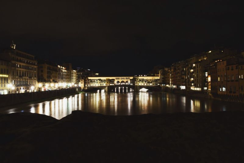 colors of the night. Architecture Black Dark Firenze Florence Historical Building History Inspiration Light Light And Shadow Long Exposure Mood Mood Captures Mood Of The Day Moody Moodygrams Night Nikon Photography Ponte Vecchio Reflection River Tuscany Water Welcome To Black