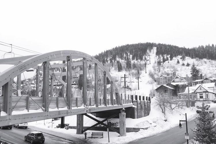 Snow bridge Transportation Bridge - Man Made Structure Outdoors No People Day Tree Architecture Railway Bridge Ski Resort