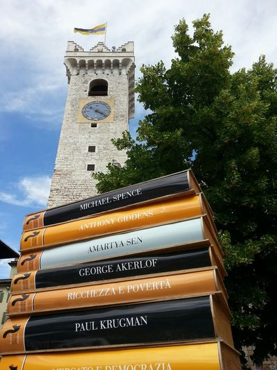 Books Economy Tower Stone Economy Festival in Trento.