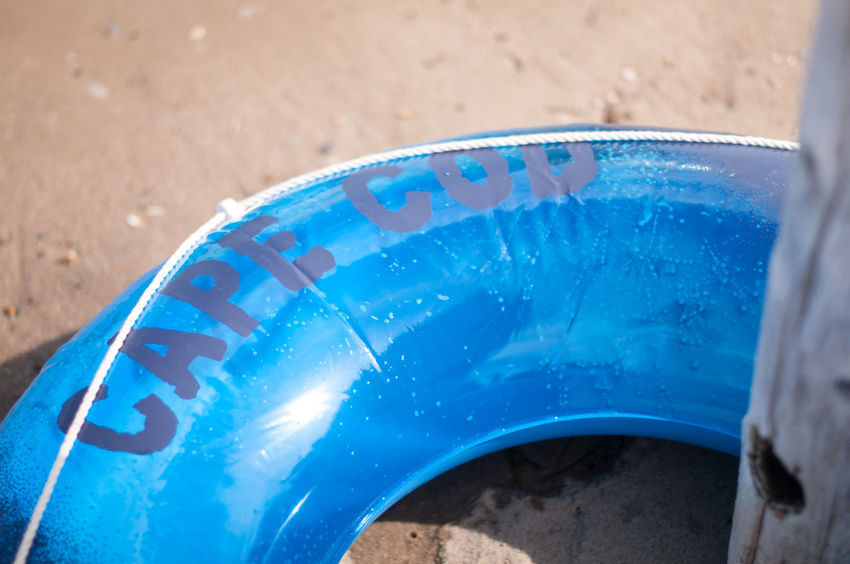 ©Amy Boyle Photography Beach Toys Blue Cape Cod Close-up Cropped Day Focus On Foreground Innertube Multi Colored Nature Outdoors Part Of Personal Perspective Plastic