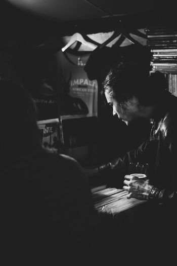 Adult Adults Only Blackandwhite Day Headshot Indoors  Lifestyles Men One Person People Real People Records Shopping Sitting Table Women Young Adult The Street Photographer - 2017 EyeEm Awards