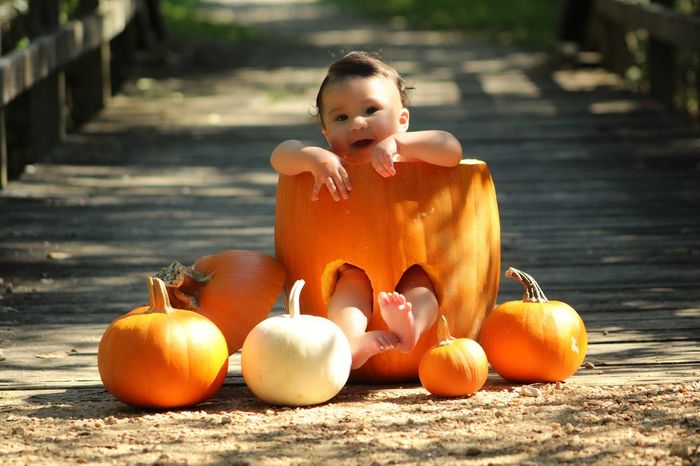 Fall Beauty Babyboy Lorenzo My Baby Lorenzo My God Son God Son Nature Fall Pumpkin