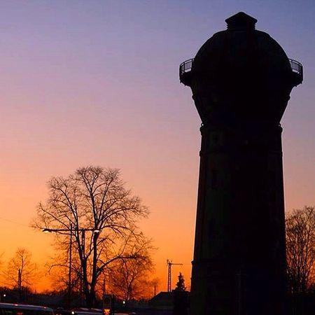 Wasserturm in Hoyerswerda - Lausitz Architecture Landscape Railway