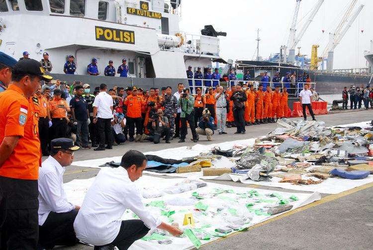 Debris from Lion Air JT 610 in Indonesia INDONESIA Joko Widodo Lion Air Crash Jt 610 Debris