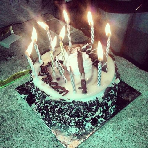 Thanxx u guys fo making ma buday a memorable one....Birthday Birth Hostel Friends best love bff candles awesome tasty party budaybombs life memories sweet forever