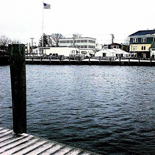 Wharf life. ⚓ Winterwater Mysticmorning Seagullsongs Viewfrommyroom timeforcoffee mystic connecticut