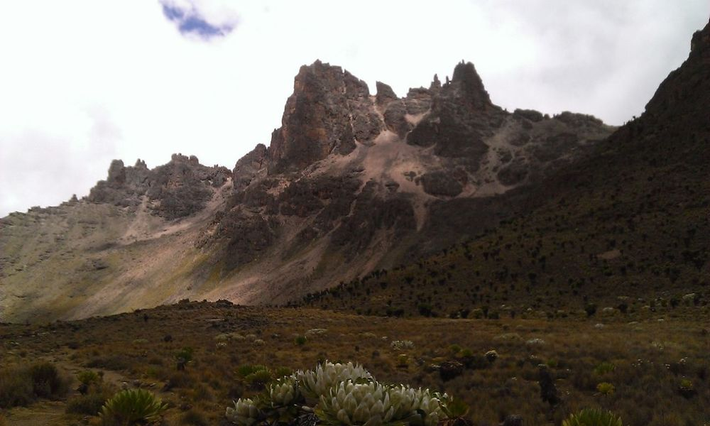 Mt. Kenya Mountain Range Beauty In Nature Landscape Mountain Outdoors Nature Peakscapes Peaks Travel Destinations Mountain Scape Hiking Trekking PeaksAndValleys Mountain Valley