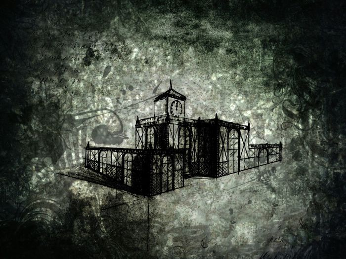 Whether it is possible in a Fairly tale? Architecture Heritage Dark Sketch