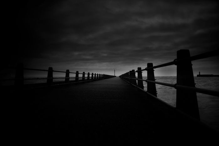 Beauty In Nature Cloud Cloud - Sky Cloudy Darkfuture Diminishing Perspective Dusk Lake Light At The End Of The Tunnel Long Majestic Nature Noir Outdoors Pier Pier Railing Scenics Sea Sky The Way Forward Tranquil Scene Tranquility Water Way Ahead