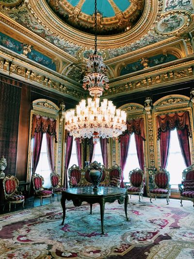 Turkey Istanbul Built Structure Architecture Indoors  Lighting Equipment Seat Ceiling Decoration Art And Craft Flooring Travel Ornate Design Luxury Chandelier No People Day Building Pattern Travel Destinations Chair
