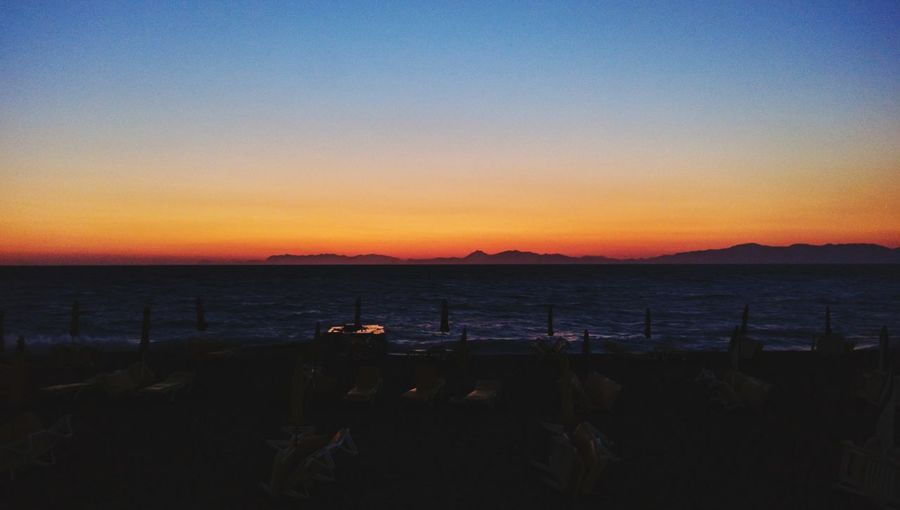 Sunset Sea Beach Horizon Over Water Sky No People Silhouette Scenics Tranquility Outdoors Water Nature Day Beauty In Nature