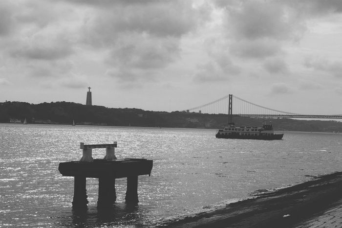 Tejo Lisbon Lisboa Black And White B&w River View Ilovelisboa
