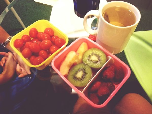 healthy tea time with fenli :)