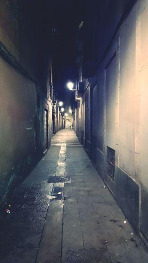 Night trip Barcelona Larambla Streetview