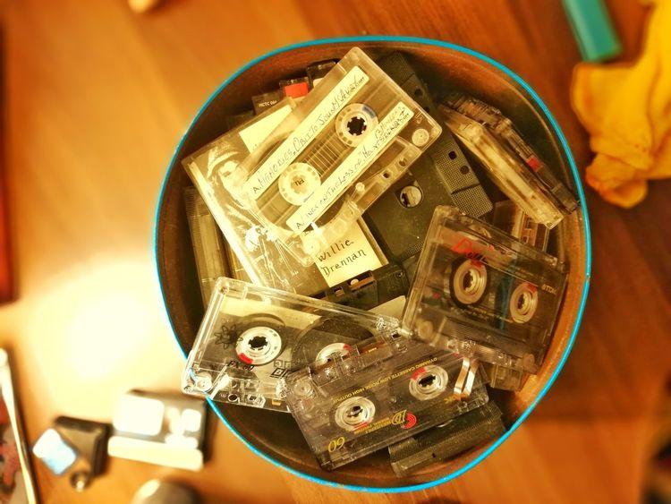 Cassettes, cassettes and more cassettes. Close-up Cassette Tin Retro Tapes EyeEm Best Shots Eyemphotography Phone Phone Camera