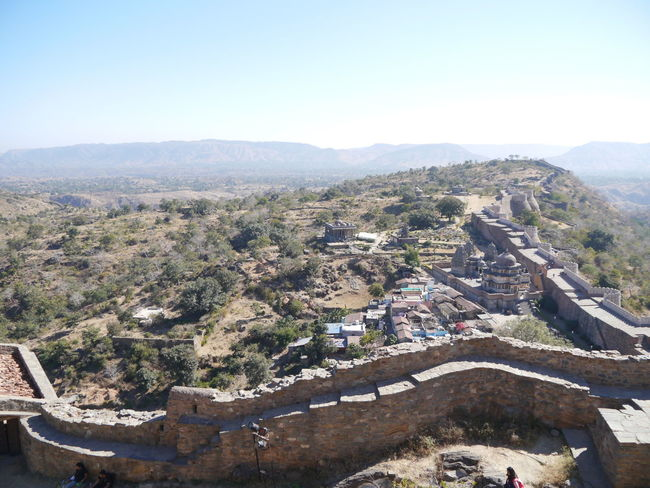 Aravalli Mountain Range Day Great Wall Of India Kumbhalgarh Kumbhalgarh Fort No People Outdoors Rajasthan Sky
