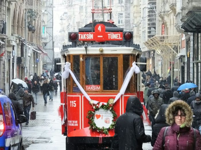 Tramway Tramways Istanbul Turkey Taksim Istiklal Istiklalstreet Istanbulistiklal Taksim Taksimbeyoglu Istiklal Peoplephotography My Commute