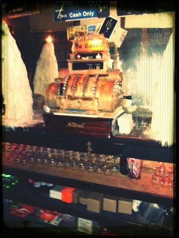 Oldest bar in Houston, with it's original cash register Still works too!!!