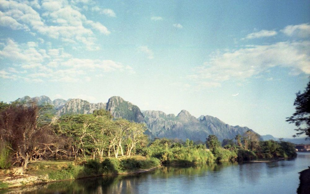 Water Landscape Sky Lake Mountain Nature Outdoors Beauty In Nature No People Laos Vang Vieng Nature Vacations Beauty In Nature Proimage100 Proimage Film Filmphotography Filmcamera