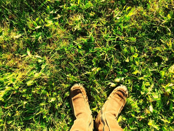 These boots are made for walking Boots Brown Brown Boots Winter Boots Moon Boots  Shoes Grass Green Green Grass Evening Light