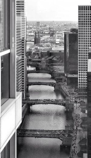 Chicago Riverwalk, South Plaza view 🗺 Chicago Headquarters Boeing Transportation City Street Cityscape City Streetphotography Street Black & White Blackandwhite Photography Blackandwhite EyeEm Best Shots - Black + White EyeEm Best Shots EyeEm Architecture Building Exterior Built Structure City Skyscraper Cityscape No People