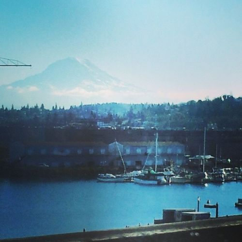 Mtrainier from the TacomaSpur ... state route 705 Tacomawa Ttown 253 StarboyLovesHisMoonchild