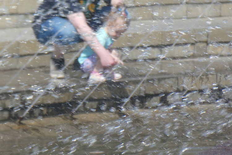 Leisure Activity Motion Real People Men Water Waterfront People Nature Lifestyles Sport Outdoors Day Splashing Two People Wet Low Section Blurred Motion City Fountain Drops Heat - Temperature Purist No Edit No Filter No Edit/no Filter