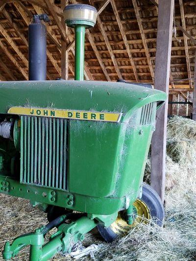 John Deere Tractor Farm Life Farm Equipment Tractor Hay Barn Tractor Tractor In A Barn Outdoors