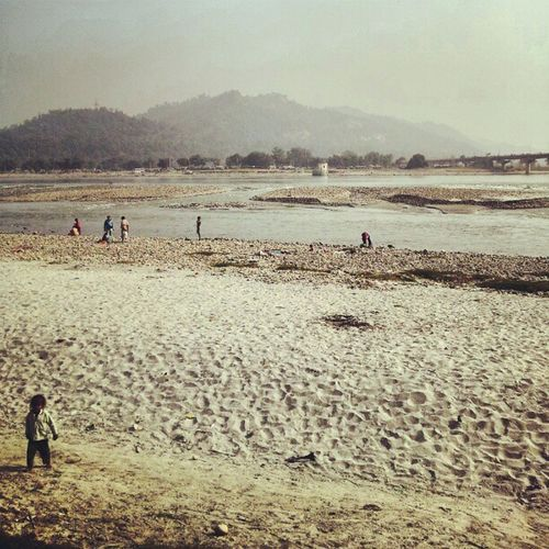 The mighty river Ganges. Nature Journey Roadtrip Ritual