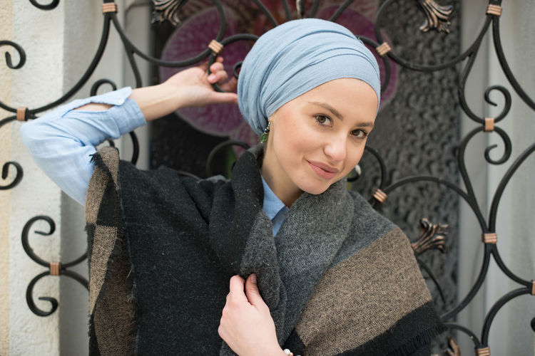 portrait of young woman wearing Hijab Cheerful Day Front View Hijab Hijabfashion Looking At Camera Muslims Outdoors People Portrait Portrait Of A Woman Smiling Woman Young Adult Young Women