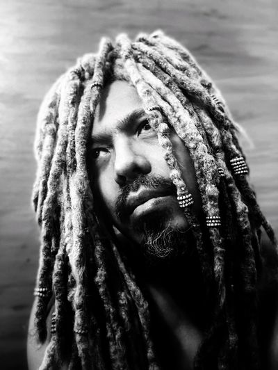 Close-Up Of Man With Dreadlocks