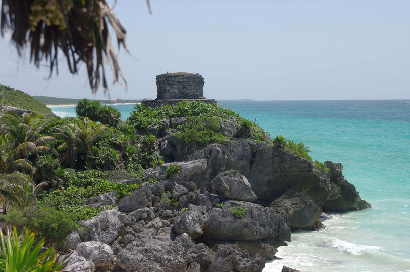 Temple of the Wind, Quintana Roo, Mexico Ancient Architecture Archaeological Sites Carribean Sea Horizon Over Water Landscape Mayan Ruins Mayan Temple Outdoors Riviera Maya Rock - Object Scenics Sea Temple Templephotography Tulum Turquoise Sea Water