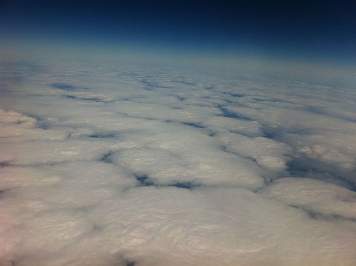 Sky Cloud - Sky Beauty In Nature Scenics - Nature Nature Tranquility No People Tranquil Scene Day Environment Outdoors Cloudscape Backgrounds Idyllic Landscape White Color Aerial View Fluffy Full Frame Softness
