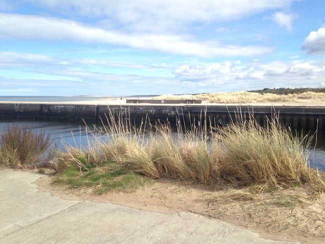 Nairn Harbour Scotland Sky Water Scenics Outdoors Grass Tranquility Day Beach Horizon Over Water