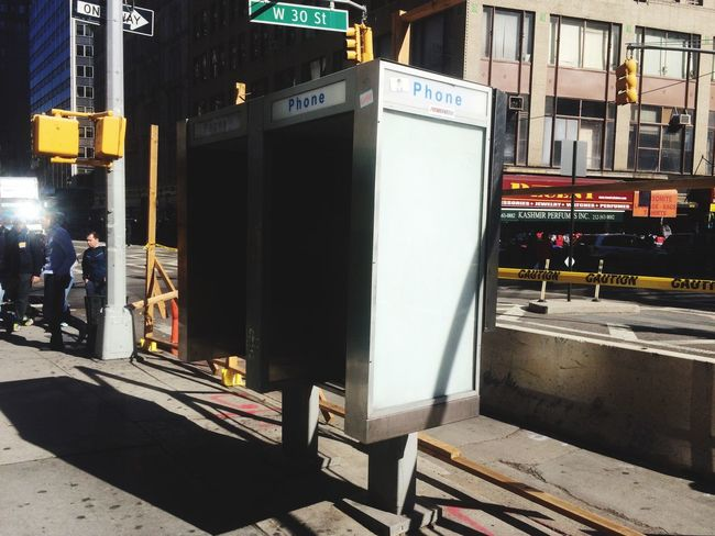 Phone Booth Advertising Space Poster Billboard Placeholder Template NYC New York City Streets Public Phone