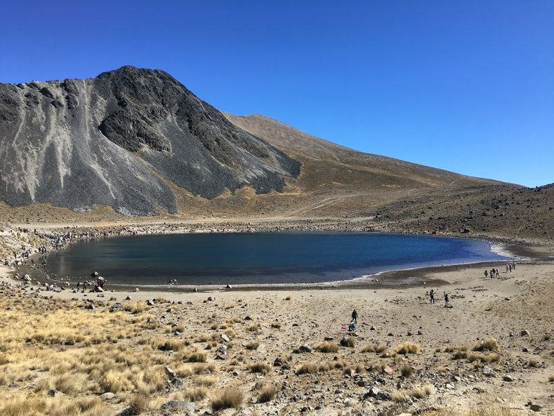 Nevado de Toluca Beauty In Nature Blue Clear Sky Day Lake Landscape Mountain Nature Nevado De Toluca Outdoors People Scenics Sky The Natural World