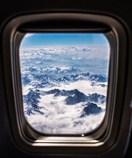 Snow Window Travel Snowcapped Mountain Mountain Airplane Aerial View Italy EyeEmNewHere EyeEmNewHere