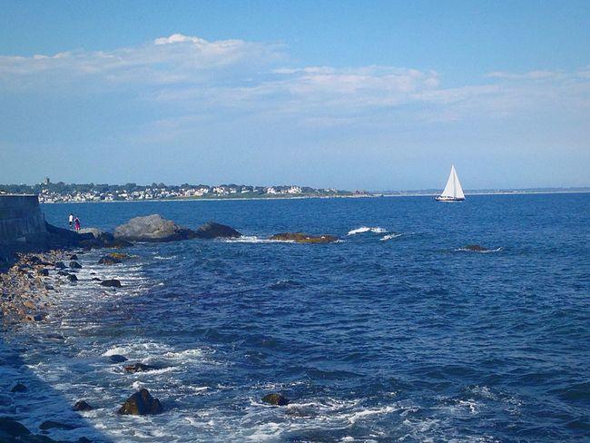 Newport, RI Water Nautical Vessel Waterfront Sailboat Nature Cloud - Sky First Eyeem Photo