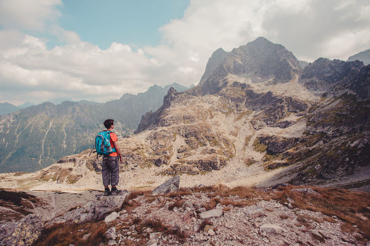 Hiking in The Tatra Mountains Activity Adventure Backpack Beauty In Nature Boy Day Freedom High Hike Hiker Hiking Lanscape Mountains Nature Nature Outdoors Peak Rock Rocky Summer Summit Teenager Trip Vacations Wide