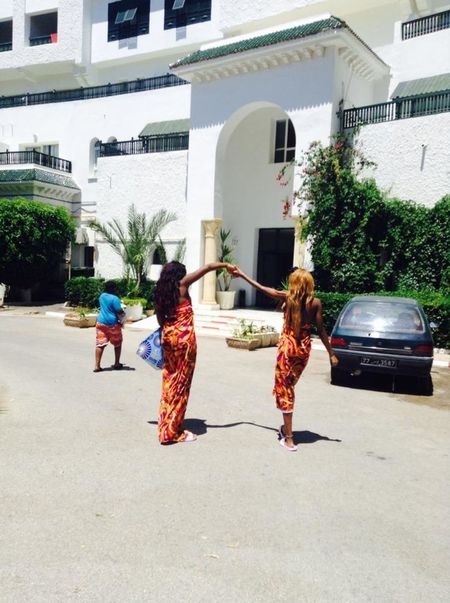 Matching Outfits Sarongs Summer Sun Sisterhood ♥ Friendship Summer Holidays Blackgirlstravel Back View Of Dancing Girls Long Goodbye Live For The Story Lost In The Landscape