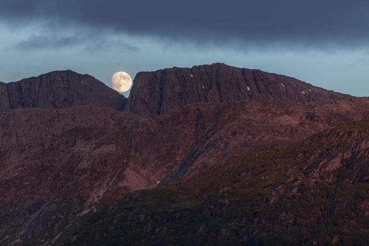 lunar landing Landscape Nature Beauty In Nature Mountain Sky Scenics Travel Destinations Outdoors No People Moon Norway Nordfjord Fjord Forced Perspective Europe Evening Moonrise Moon Surface