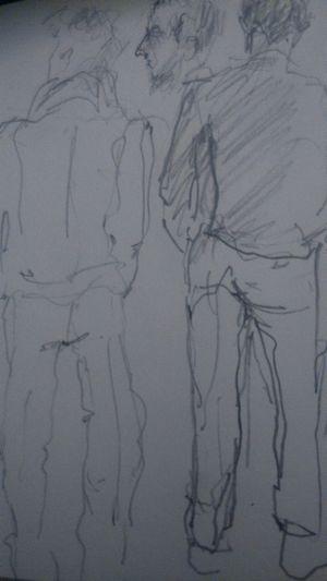 More sketches ArtWork Blackandwhite Drawings People Watching