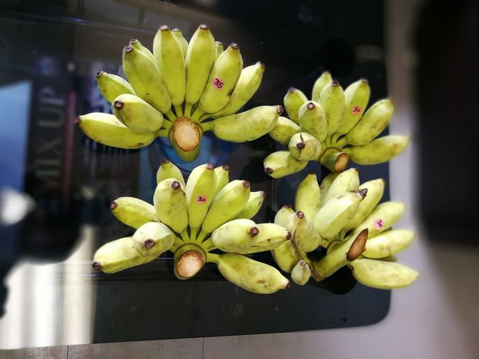 Banana Beauty In Nature Close-up Day Flower Flower Head Focus On Foreground Food Fragility Freshness Fruit Green Color Growth Healthy Eating Indoors  Nature No People Plant Yellow