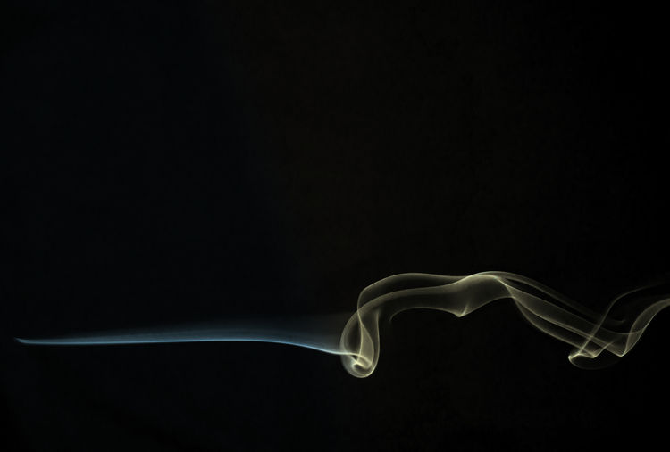 Abstract Black Background Copy Space Incense Indoors  No People Smoke - Physical Structure Studio Shot Swirl Visual Creativity The Creative - 2018 EyeEm Awards