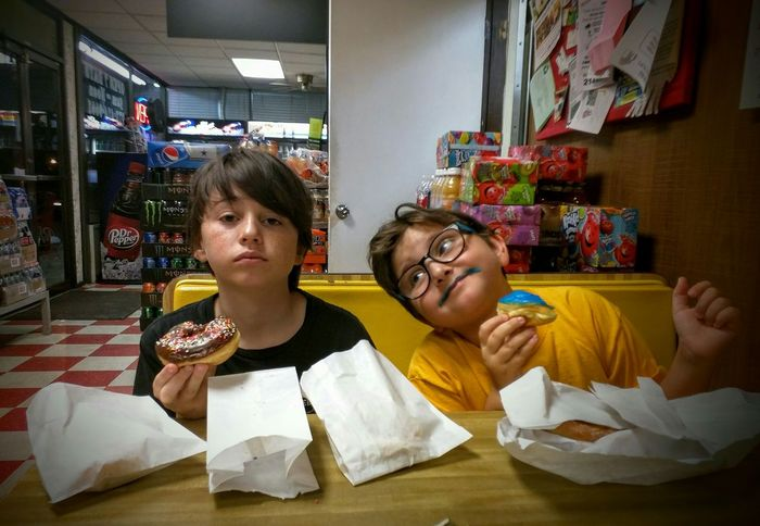 Having Donuts🍩 . These faces are a perfect reflection of personality. Not Impressed Silly