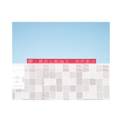 Pattern Blue Day Fine Art Photography Contemporary Art Photography Minimalism City Building Exterior Sunny Clear Sky Architecture Graphic Geometric Shape Abstract Design
