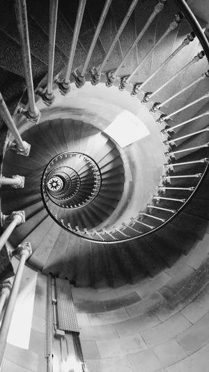 Staircase Spiral Stairs Spiral Steps Spiral Staircase Escalier Escalier En Colimaçon High Angle View Ile De Ré Phare Des Baleines