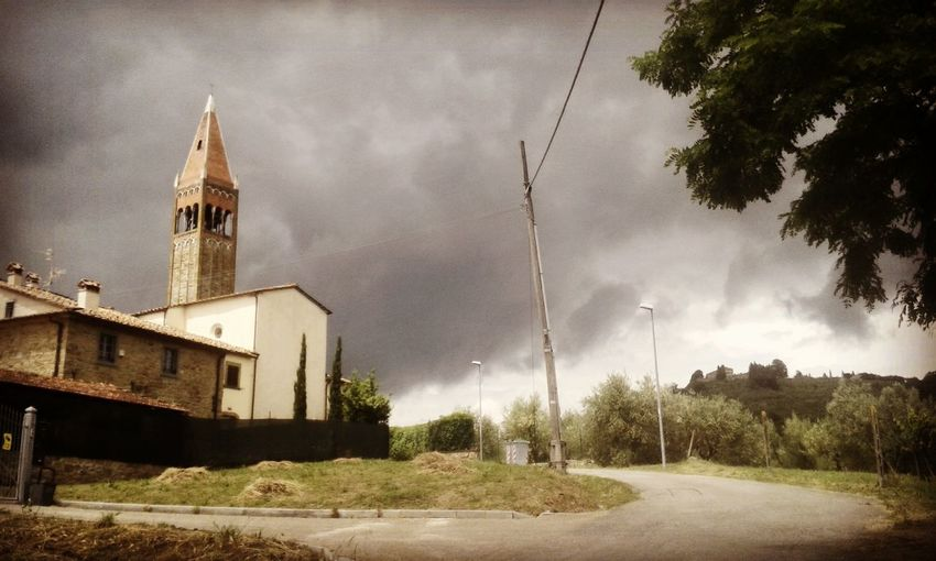 Church Sky Cloud - Sky Cloud Evening Outdoor Landescape Country Tuscany Arezzo Bell Tower Bell Countryside Small Town Italy Italy❤️ Italia Toscana Paese Campagna Passeggiando