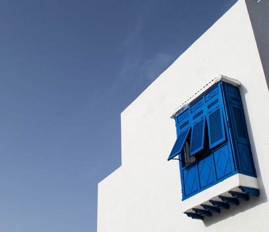 TakeoverContrast Building Exterior Architecture Blue Window Sky Tunisia Tunisie Sky And Clouds Travel Photography Journey Travel Monastir EyeEm Selects Bleu Maison The Graphic City