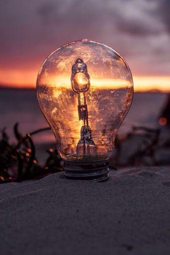 Light Up Your Life Sunset Lightbulb Sand Art